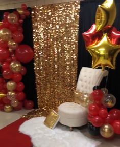 A Star is Born Backdrop Backdrop Balloons Baby Shower Red Gold Black Baby Shower. Black And Gold Party Decorations, Black Gold Party, Quince Decorations, Red Gold, Hollywood Birthday Parties, Red Birthday Party, Birthday Party Decorations, Burlesque Party Decorations, Hollywood Party