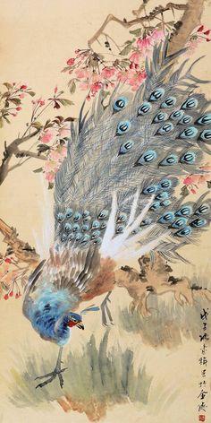 #TraditionalSumie #ChineseInkPainting #MasterZhangShuQi #ChineseFlowersAndBirdsPainting #OrientalBrushPaintingPeacock