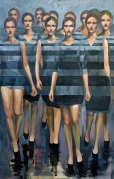"""Saatchi Art Artist Pascale Taurua; Painting, """"On stage"""" #art"""