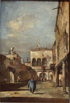 Francesco Guardi - Architectural fantasy with a courtyard - Google Art Project.jpg