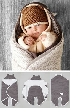 Little Critter // the cutest little baby wrap with little ears!