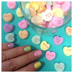 Happy Valentine's Day! We're in love with pretty pastel nails!