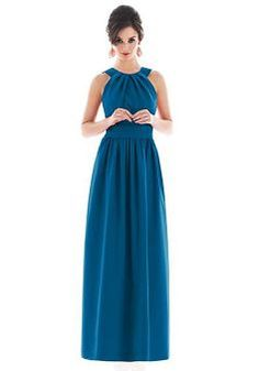 Fabulous Taffeta A line Sleeveless V Neck Bridesmaid Dress - 1300252221B - US$95.69 - BellasDress
