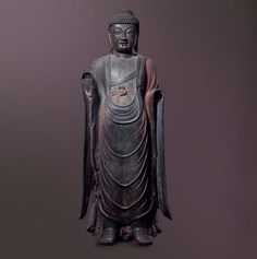 Bhaisaiyaguru Buddha Baengnyulsa Temple, Dongcheon-dong, Gyeongju / Unified Silla, Late 8th C. / H. 179.0㎝  The statue was moved to the museum from Baengnyulsa Temple in Mt. Sogeumgangsan, Gyeongju, in 1930. Baengnyulsa Temple is the birthplace of the legend of Yi Cha-don, an early Buddhist martyr, and is considered a sacred Buddhist temple of great tradition. This Bhaisajyaguru Buddha, along with the Amitabha Buddha and Vairocana Buddha in Bulguksa Temple, is widely regarded as the…