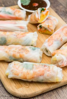 Light, fresh and healthy, these spring rolls are great for summer picnics, and gatherings!