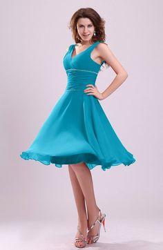 Informal Zipper Chiffon Knee Length Sequin Bridesmaid Dresses