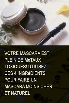 Your mascara is full of toxic metals! Use these 4 ingredients to . Blinc Mascara, Fiber Lash Mascara, Mascara Tips, Mascara Review, Beauty Care, Diy Beauty, Beauty Hacks, Beauty Tips, Natural Hair Mask