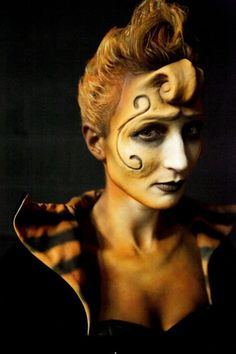 One of my favorite makeups from FaceOff! Loved the Tim Burton challenge.