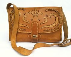 Old Leather Purse Handbag Soviet USSR Vintage Bag by Minterest