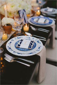 Southern California Bride: Romantic and Elegant Blue Franciscan Gardens Wedding Inspirational Shoot