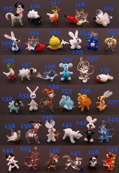 Small Glass Animal Figurines Miniature Glass Animals by flameingo