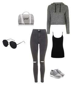 """""""Crepe de Chine"""" by husic ❤ liked on Polyvore featuring Topshop, adidas Originals and M&Co"""