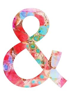 watercolour ampersand  & 
