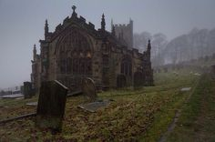 """bonitavista: """" Peak District, England photo via devon """" Abandoned Buildings, Abandoned Places, Haunted Places, Vampires, Path To Heaven, Cathedral Church, Dark Places, Wassily Kandinsky, Macabre"""