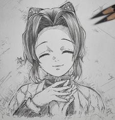 Anime Drawings Sketches, Cool Art Drawings, Pencil Art Drawings, Anime Sketch, Anime Character Drawing, Manga Drawing, Demon Slayer, Slayer Anime, Otaku Anime