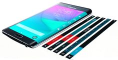 Samsung Galaxy Note Edge with 'edge' screen options (image credit Samsung)