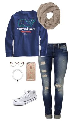 """Christmas"" by alliweir on Polyvore featuring Mavi, Converse, Sophia Kokosalaki, Casetify and Prism"