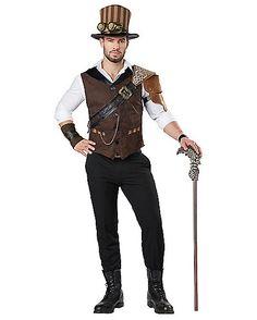 Steampunk Adventurer Adult Mens Costume - Spirithalloween.com