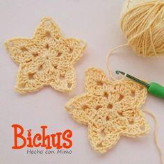 Bichus Amigurumis: Estrella de Ganchillo - Patron Gratis