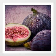 figs -blue 1x1 Art Print by hannes cmarits (hannes61) - $17.00