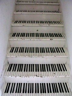 Piano stairs for future recording studio... awesome!
