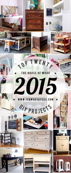 An inspiring round-up of the top 20 DIY projects by Jen Woodhouse of The House of Wood.