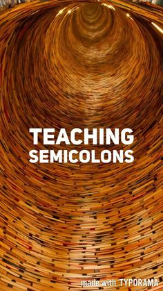 Ideas (and a video) for teaching semicolons! || Ideas and inspiration for teaching GCSE English || www.gcse-english.com ||