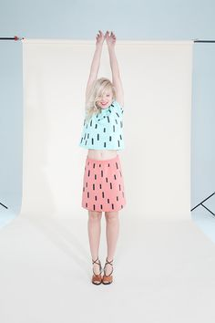 LLUVIA SKIRT coral pink