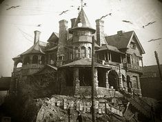 Atlanta mansion built for David H. Dougherty in the 1890s. Demolished to make way for a gas station