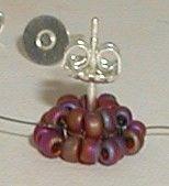 Bead Mavens:  Beaded Post Earrings. #Seed #Bead #Tutorials