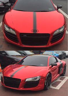 Audi R8 red chrome