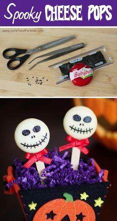 Cheese ghouls | Community Post: 26 Healthy Halloween Snack Hacks