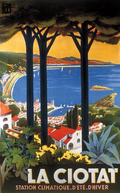 Vintage PLM Travel Poster: La Ciotat, The French Riviera