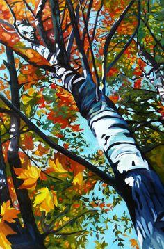 Zion Trees Original Fine Art Oil Landscape by EvelynMcCPetersArt, $875.00
