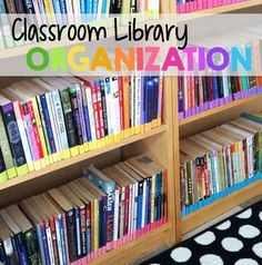 Classroom Library Organization: Using colored labels to keep your classroom books in order!