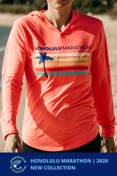 Check out our new collection for Honolulu Marathon This is a lightweight woman's pullover hoodie. Super soft for warm-ups and hangouts. Hydrolite cotton fabric for a great feel and cool look. Marathon Logo, Hoodies, Sweatshirts, How To Look Better, Active Wear, Cotton Fabric, Pullover, Long Sleeve, Warm
