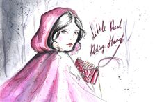 little red riding hood red channel bag fashion illustration