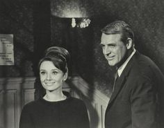 "Audrey Hepburn and Cary Grant on the set of ""Charade"", 1963 