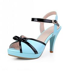 Leatherette Stiletto Heel Peep Toe / Sandals With Buckle Party / Evening Shoes (More Colors) – CAD $ 55.94