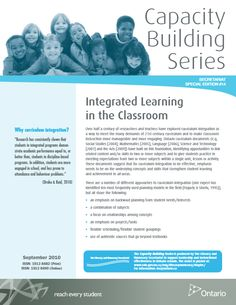 This document discusses integrated curriculum in the classroom and forefronts the benefits of teaching and learning using this method.