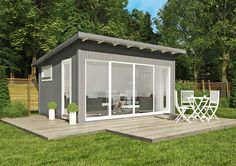 Building a shed is a popular solution for creating storage space outside the house. Whether you are thinking about having a go and building a shed yourself Backyard Office, Backyard Studio, Backyard Sheds, Garden Office, Strand Pool, Metal Garden Furniture, Garden Cabins, Studio Shed, Tiny House Cabin