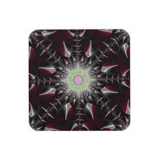 Maroon Star Beverage Coaster!  **New store!  Never been posted!  Find out more at http://www.zazzle.com/fractalsbydww25921*  Have a great day!