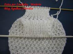 Oieeeeeee Meninas ki saudades..... Obrigada pelo carinho e pelos comentarios que provavelmente não vou poder responder um a um por causa d... Baby Knitting Patterns, Crochet Square Patterns, Crochet Scarves, Knit Crochet, Crochet Hats, Crochet Scarf Tutorial, Diy Crafts Crochet, Hand Knit Scarf, Knitted Headband