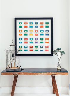 Bibliophiles will love this set of Penguin book-cover postcards — which you can buy in boxes of 100 — arranged in a black frame.