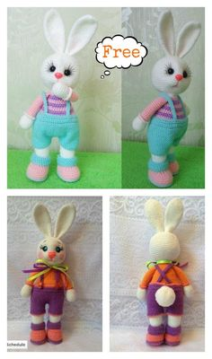 Crochet Amigurumi Rabbit Design Cute Amigurumi Easter Bunny Free Crochet Pattern - Bunnies are the most classic symbol for Easter. Here are some Free Amigurumi Bunny Crochet Patterns for you to make cute bunnies for decor or as gifts. Crochet Bunny Pattern, Easter Crochet Patterns, Crochet Rabbit, Crochet Amigurumi Free Patterns, Crochet Dolls, Free Crochet, Easy Crochet Projects, Stuffed Animal Patterns, Easter Bunny
