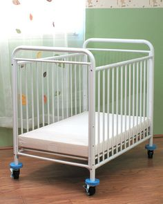Evacuation Cribs - L.A. Baby The Condo Crib White | Honor Roll Childcare Supply
