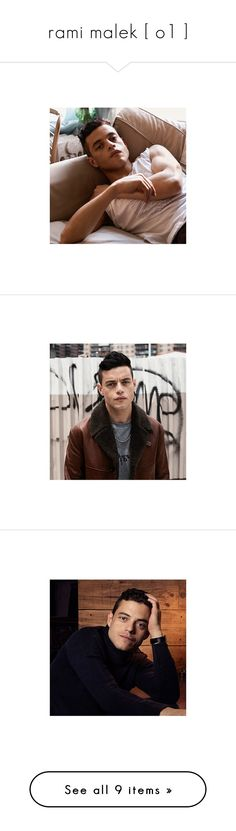 """""""rami malek [ o1 ]"""" by the-asgardian-clipper ❤ liked on Polyvore"""