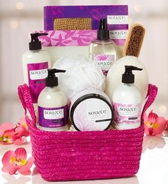 Sensuous Indulgence #Spa Gift Basket- collection of deluxe spa products including body mist, body butter and body lotion and more $59.99  #relax