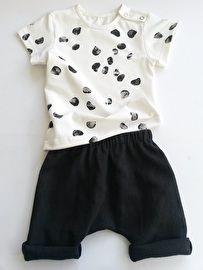 Linnen short met Dots shirt