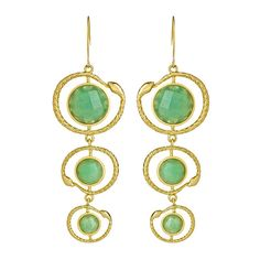 Seraphina Serpent Wire Earrings (935 UAH) ❤ liked on Polyvore featuring jewelry, earrings, accessories, fashion jewelryearrings, sports earrings, sports jewelry, seraphina, wire earrings and green jewelry